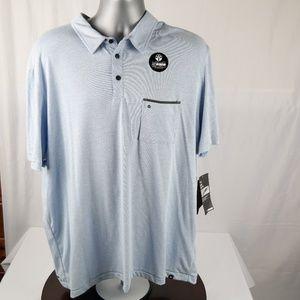 Hurley Nike Dri Fit Shirt XXL Short Sleeve Blue